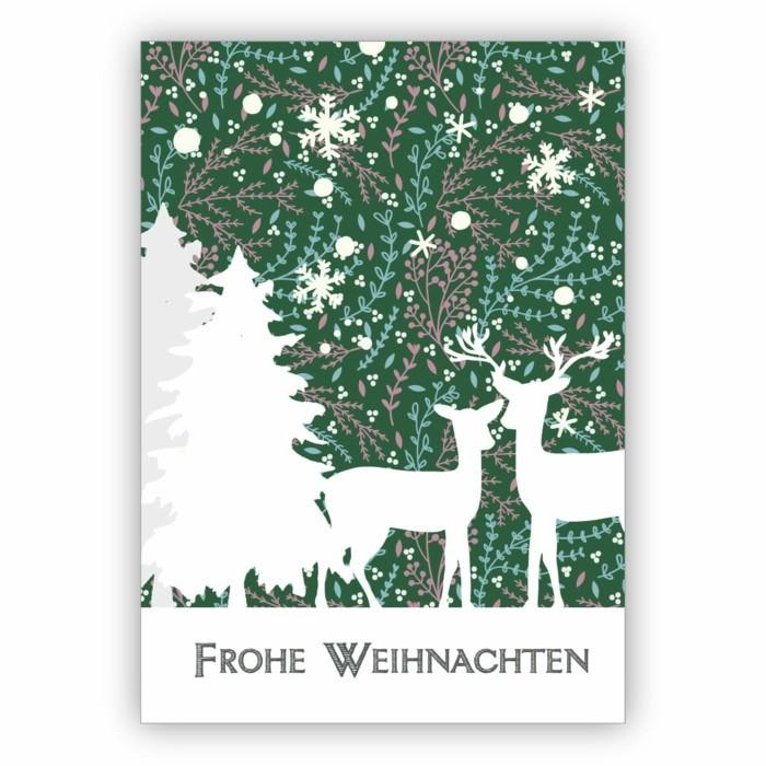 weihnachtskarte basteln scherenschnitt weihnachten waldtiere weiss