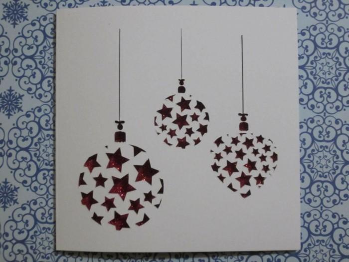weihnachtskarte basteln scherenschnitt weihnachten weihnachtsschmuck