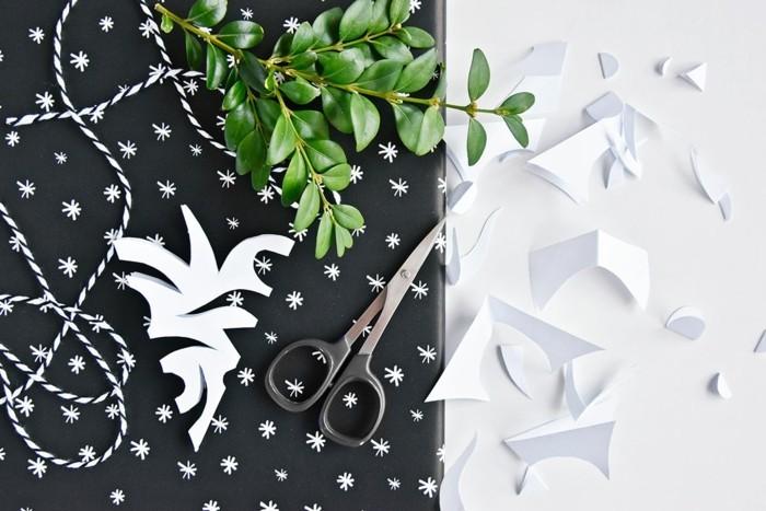 weihnachtskarte basteln scherenschnitt weihnachten wunsch handgemacht mistel
