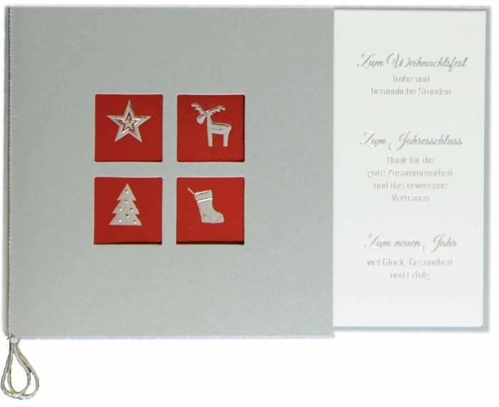weihnachtskarte basteln scherenschnitt weihnachten wunsch handgemacht