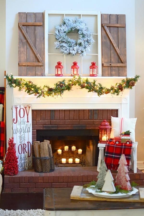 wenige figuren weihnachtskamin weihnachten kamin deko