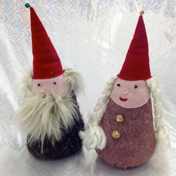 wichtel basteln diy bastelideen mit stoff zu weihnachten