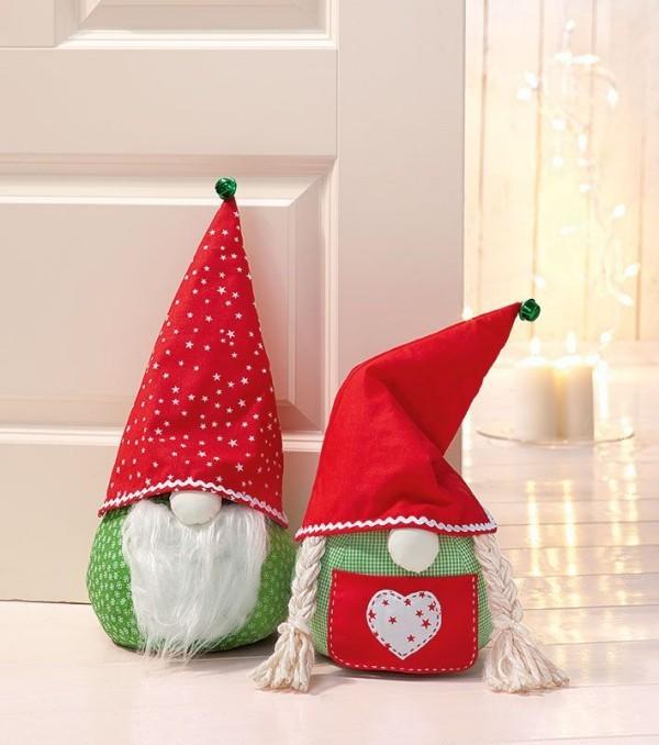 wichtel basteln mit kindern aus stoff zu weihnachten