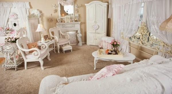 wohnzimmer einrichten shabby chic deko selber machen