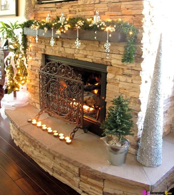 ziegel weihnachtskamin weihnachtsdeko idee