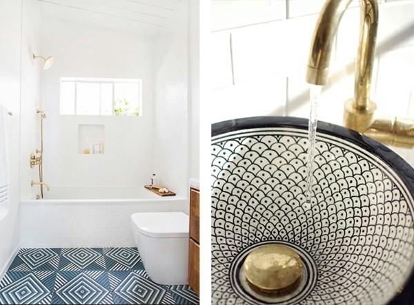 Badezimmergestaltung Mit Auffälliger Bodenfläche