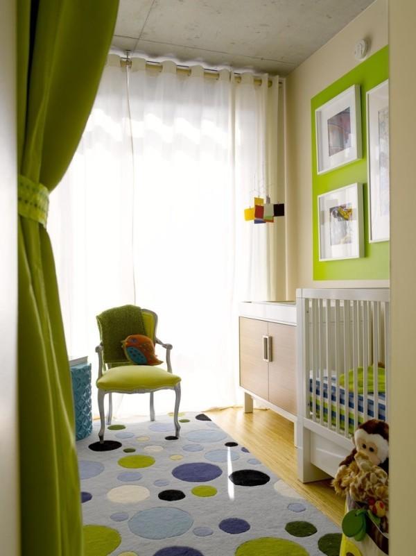 Chartreuse Kinderzimmer