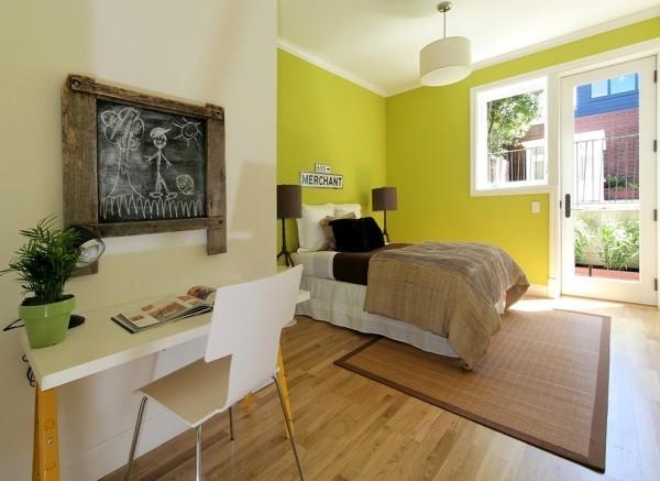 Chartreuse die Wände