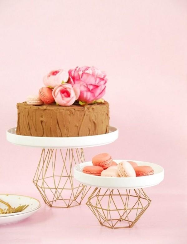 DIY Deko elegante tortenständer