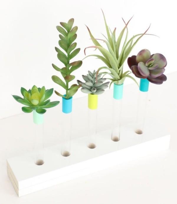 DIY Deko pflanzen einstecken