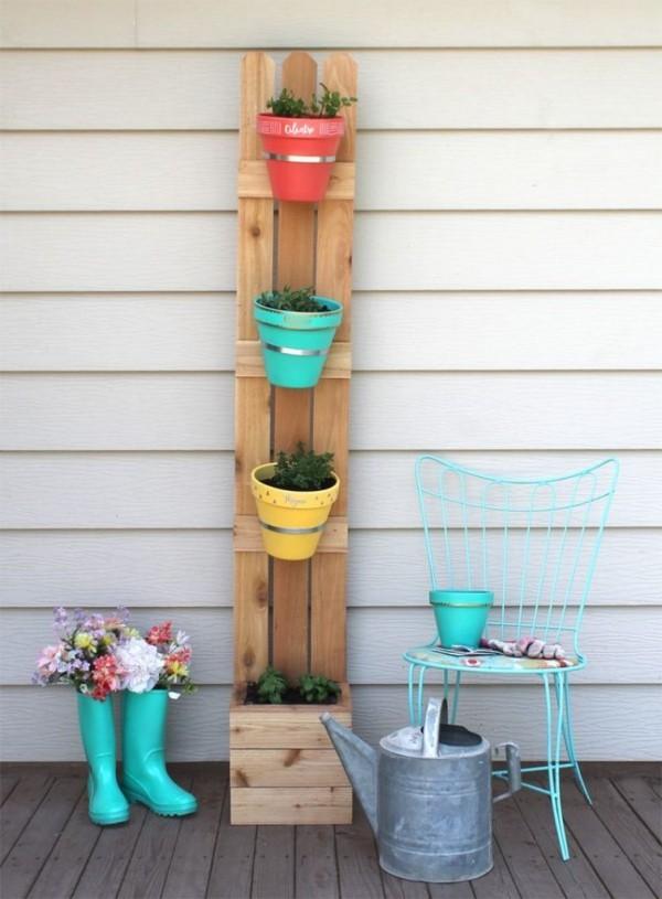 DIY Deko wandgestaltung mit pflanzern