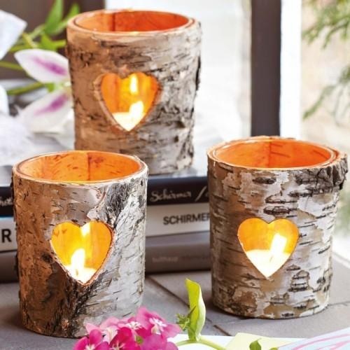 DIY Valentinstag Kerzen und Kerzenständer
