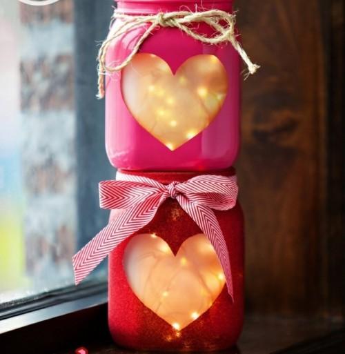 DIY Valentinstag kleine Lichterketten