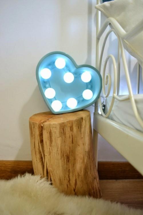 Herz mit Lichter als Alternative DIY Valentinstag