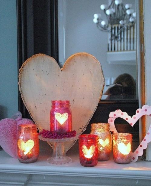 Herzen und Kerzen für den Valentinstag