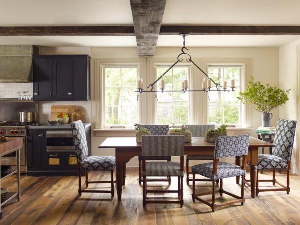 Küchen Ideen essbereich stilvolle stühle tischdeko