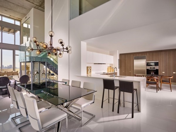 Küchen Ideen industrielle wohnküche