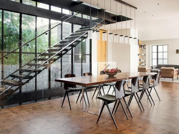 Küchen Ideen moderner industrieller essbereich