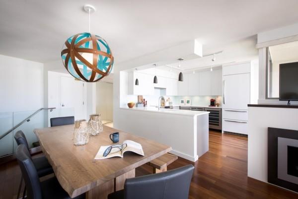 Küchen Ideen offene wohnküche essplatz industriell