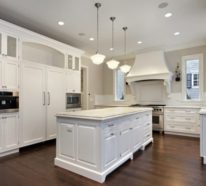 Weiße Küche kann luxuriös sein und viele andere Pluspunkte haben