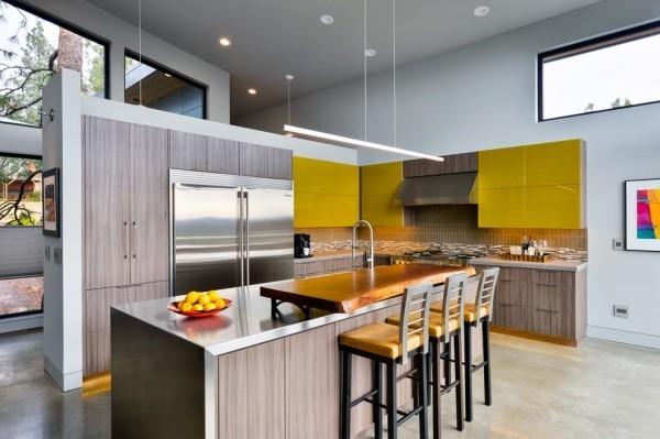 Küchenschränke in Chartreuse