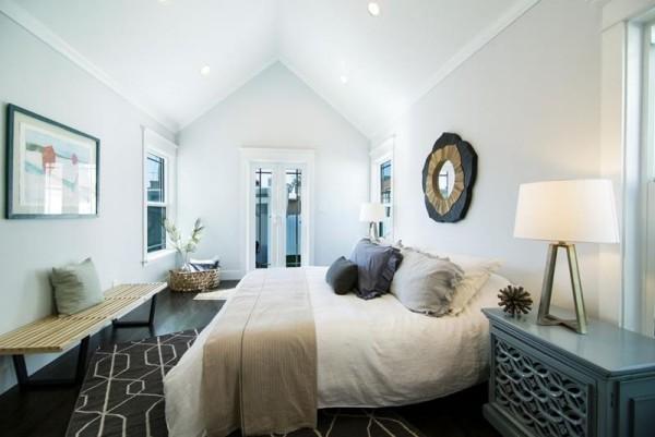 Schlafzimmer Ideen dezente Muster
