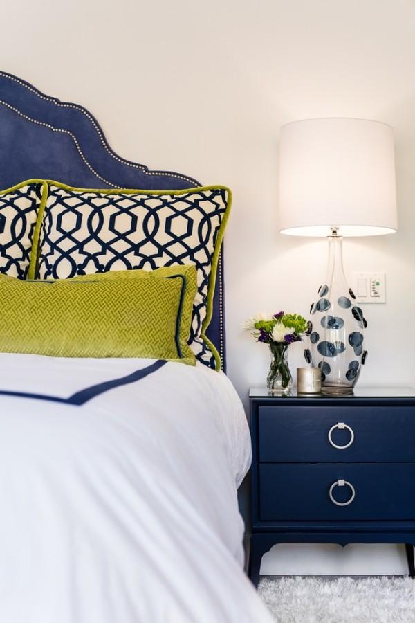 Schlafzimmer visuelle Akzente Chartreuse