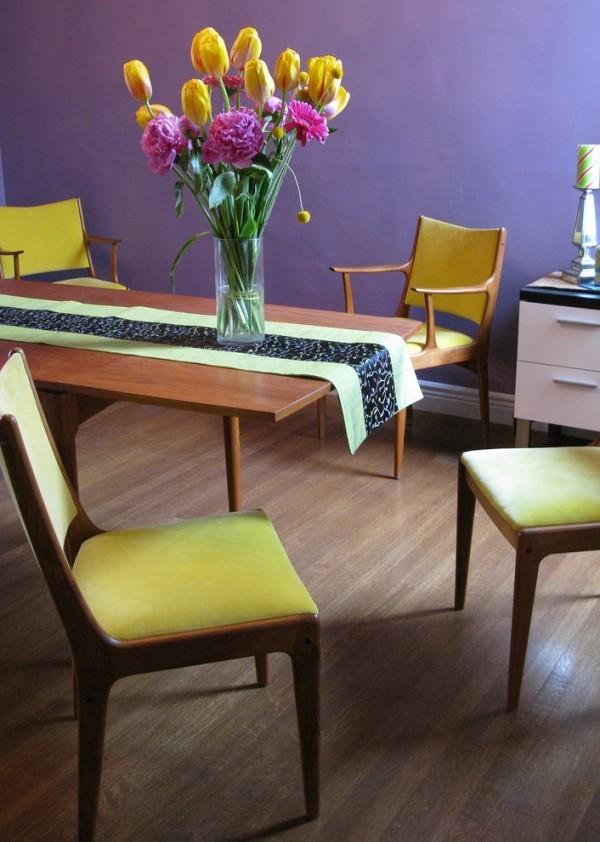 Stühle Chartreuse violett-blaue