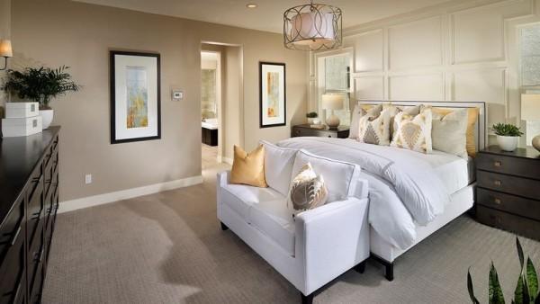 Tolle Schlafzimmer Ideen kleine Sitzcouch
