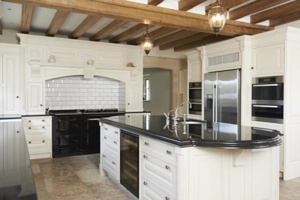 Weiß schwarz Küche Landhausstil
