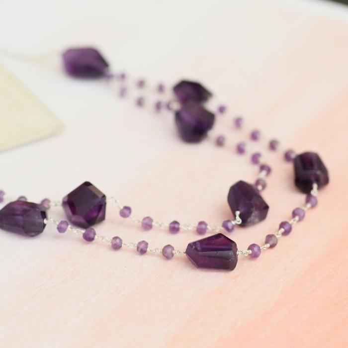 amethyst wirkung edelsteine bedeutung halskette luxus