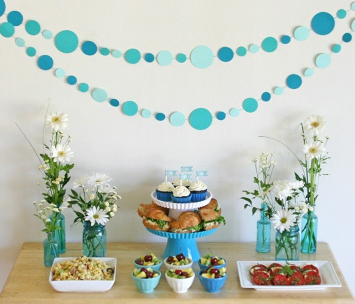 baby shower party ideen herz