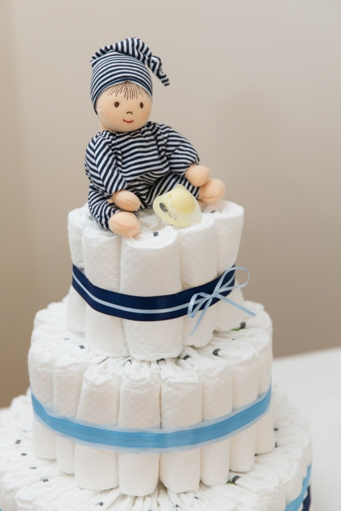 baby shower party ideen windelntorte