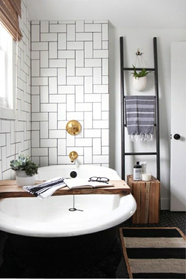 badezimmer einrichtung badewanne akzent
