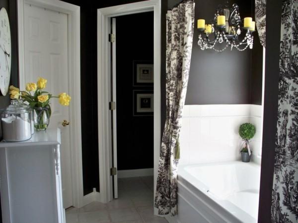 badezimmer einrichtung dunkle vertikale flächen