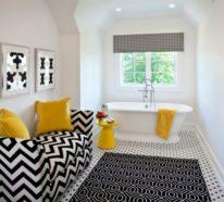 Machen Sie das Beste aus Ihrer Badezimmer Einrichtung in Schwarz-Weiß