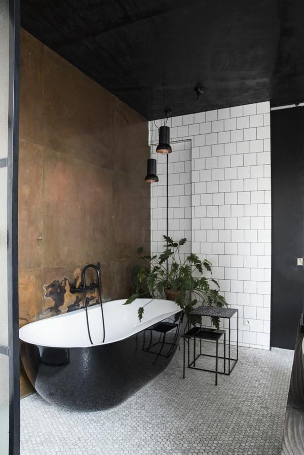 badezimmer einrichtung metallic