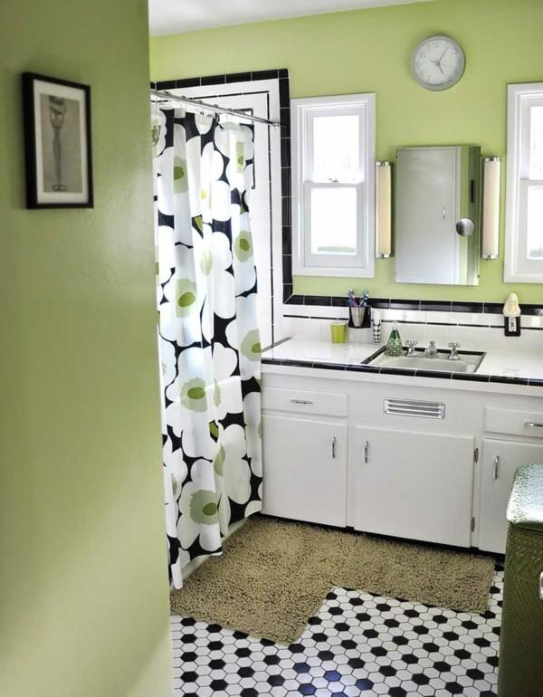 badezimmer einrichtung pastellgrüne wände