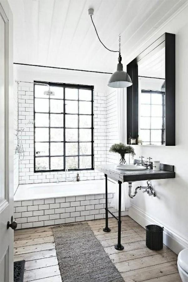 badezimmer einrichtung schwarz und vor allem weiß