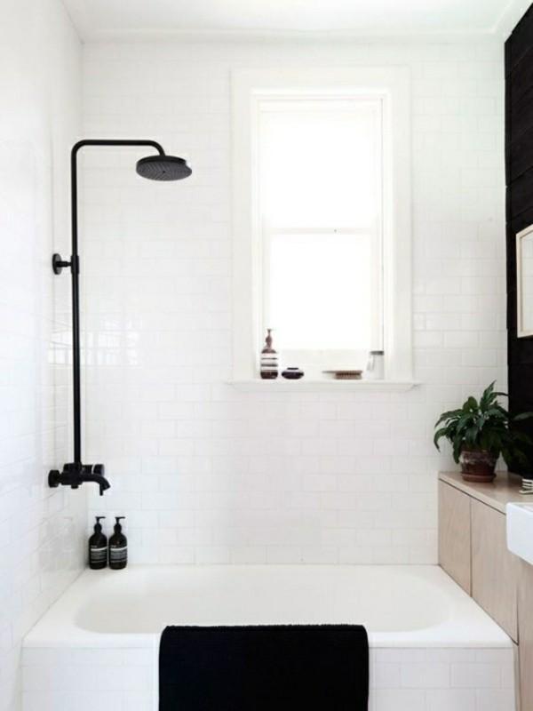 badezimmer einrichtung schwarze elemente