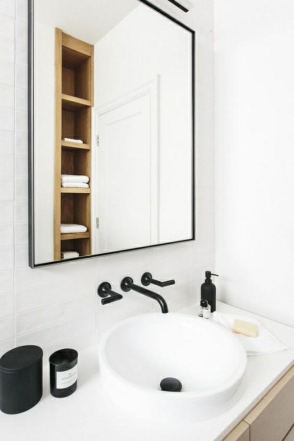 badezimmer einrichtung stratehisch eingesetzte dekoelemente