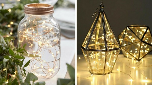 ball maison glas dekoideen mit lichterketten