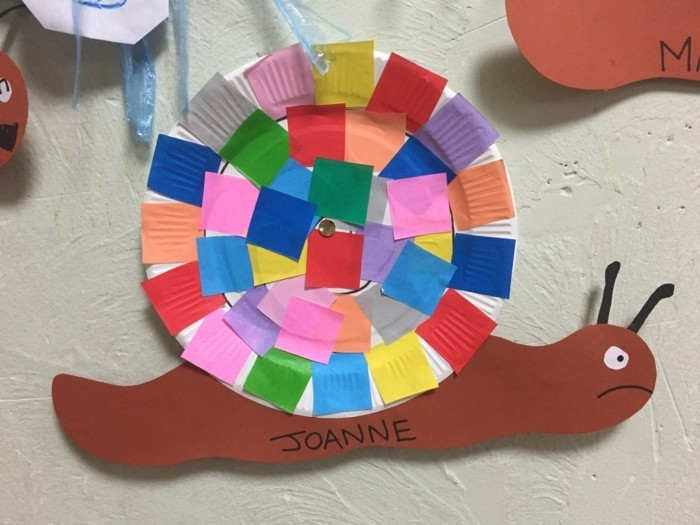 basteln mit papptellern farbig kreativ