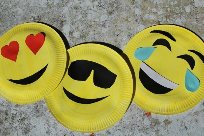basteln mit papptellern lustige ideen für kinder