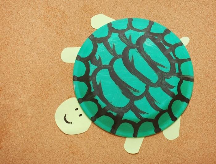 basteln mit papptellern schildkröte basteln mit kindern ideen