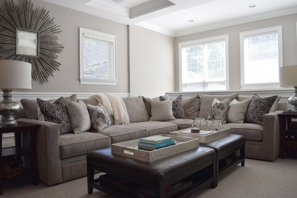beige taupe dekokissen ideen couch wohnzimmer einrichten