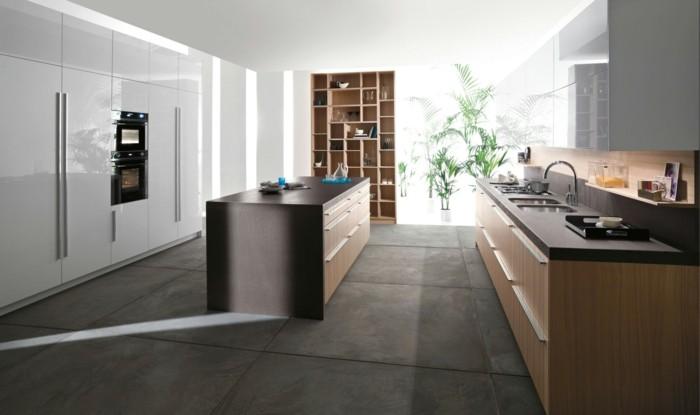 betonboden bodenplatten große moderne küche