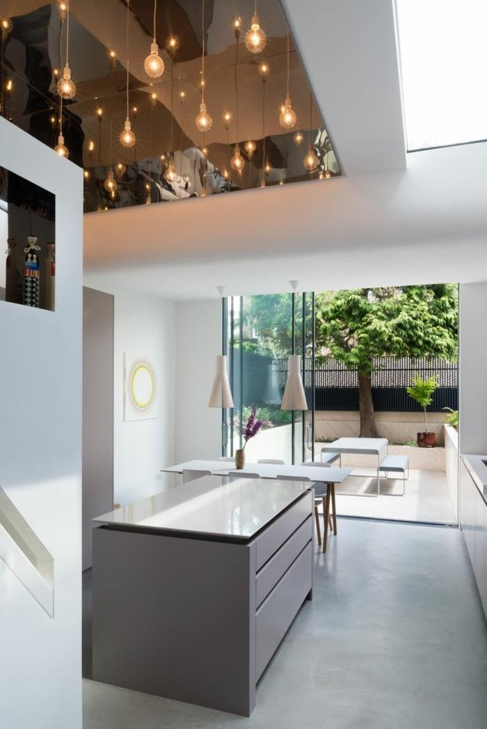 betonboden kücheninsel ausgefallene beleuchtung