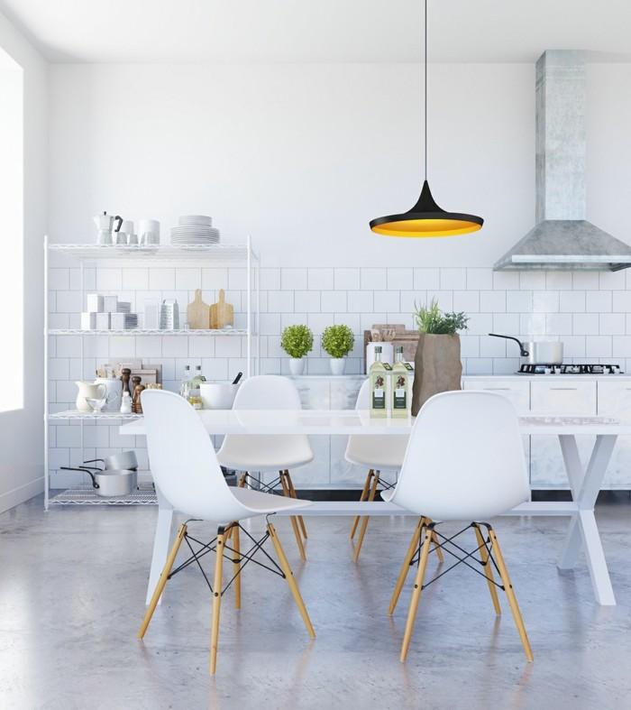 betonboden polierter betonboden weiße küche
