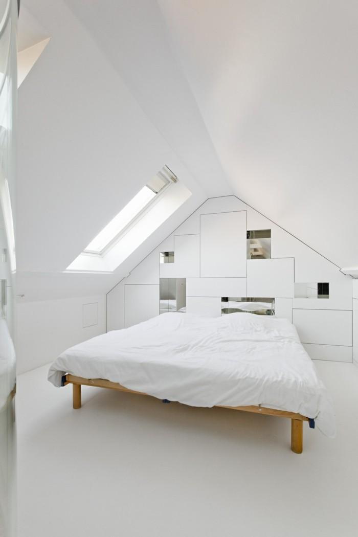 bett ohne kopfteil weißes schlafzimmer gestalten